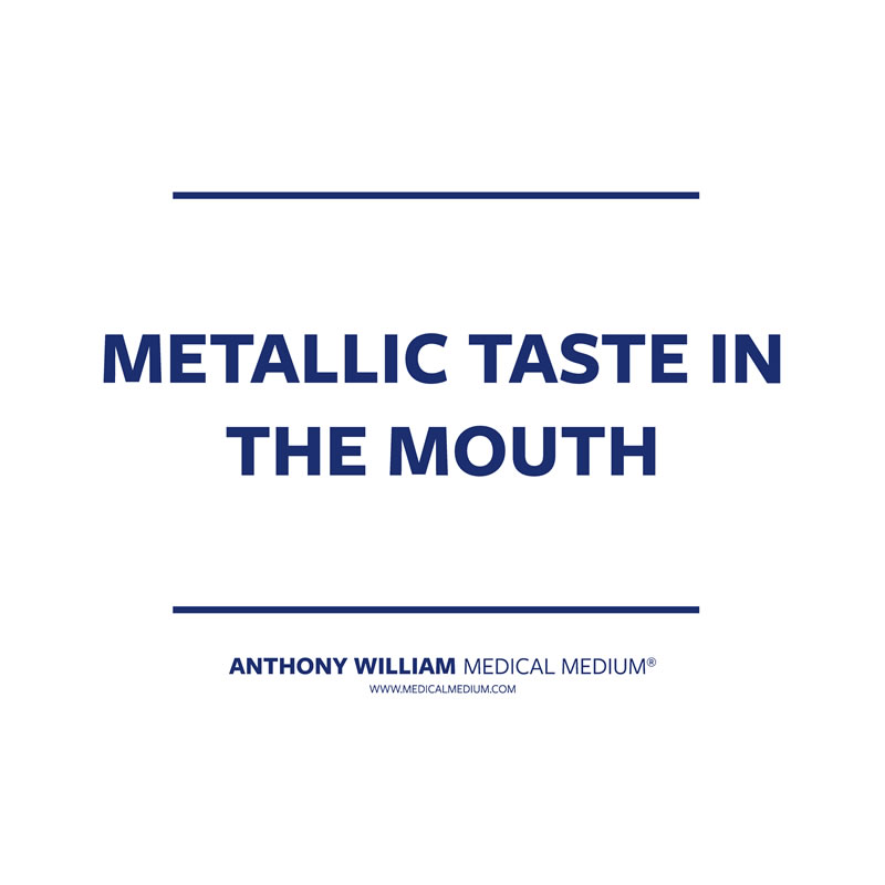 Dating metallic taste in mouth